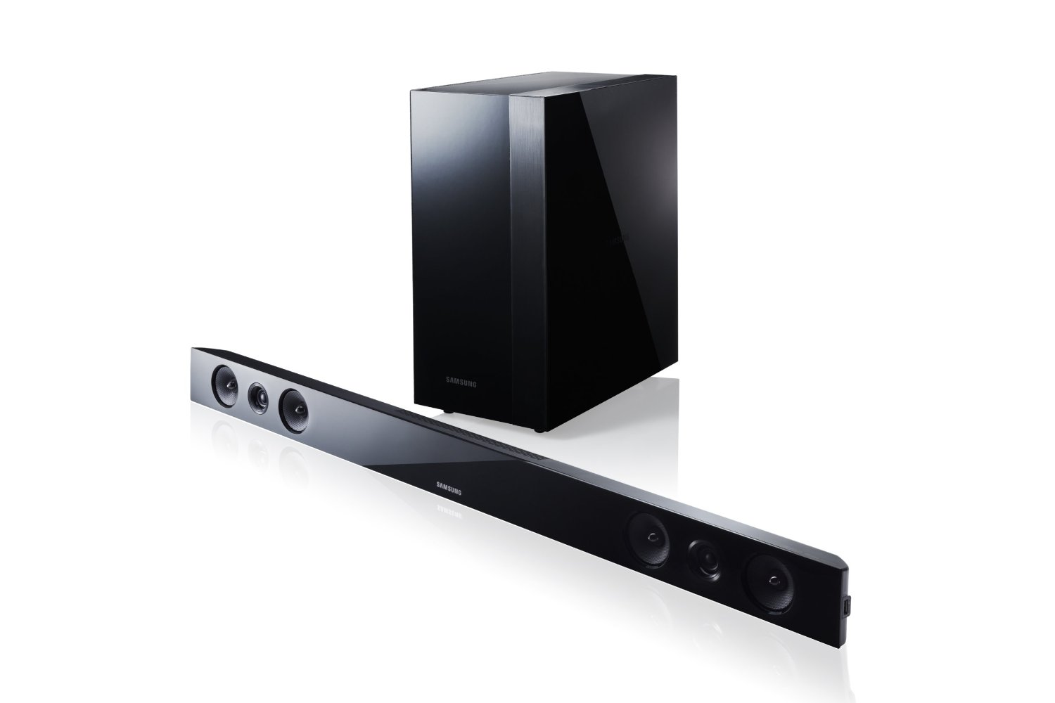 samsung home theater surround sound bar wireless subwoofer amp bluetooth hw f450 ebay. Black Bedroom Furniture Sets. Home Design Ideas