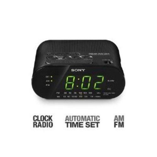 sony automatic time set am fm dual alarm clock radio ebay. Black Bedroom Furniture Sets. Home Design Ideas