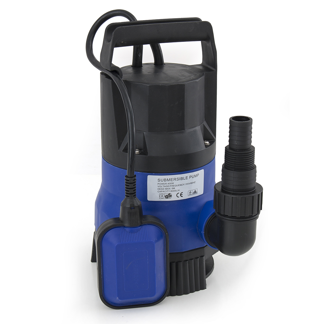 2000gph submersible clean dirty water pump 1 2hp swimming for Water pump to drain pond