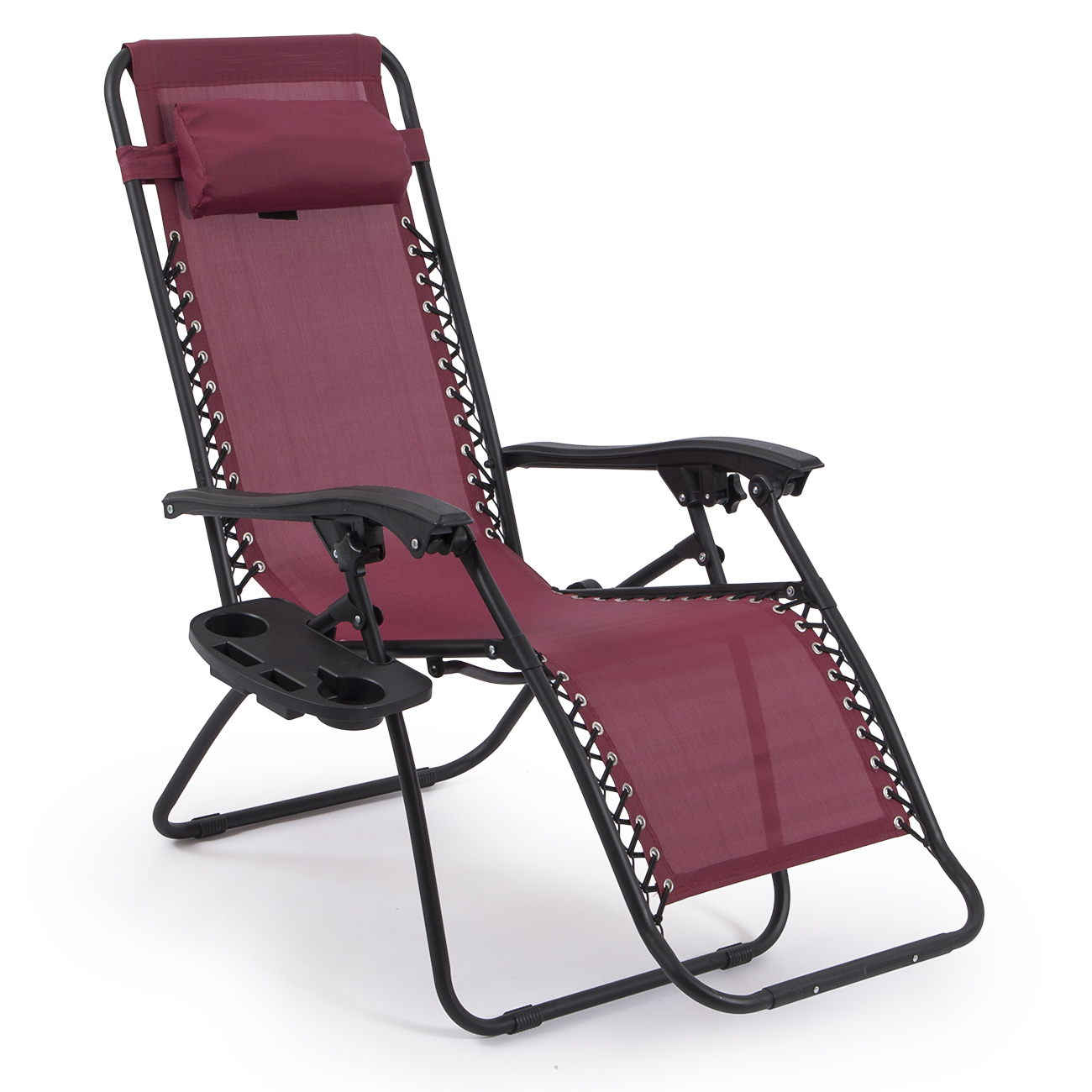 2 folding zero gravity reclining lounge chairs utility for Reclining patio chair