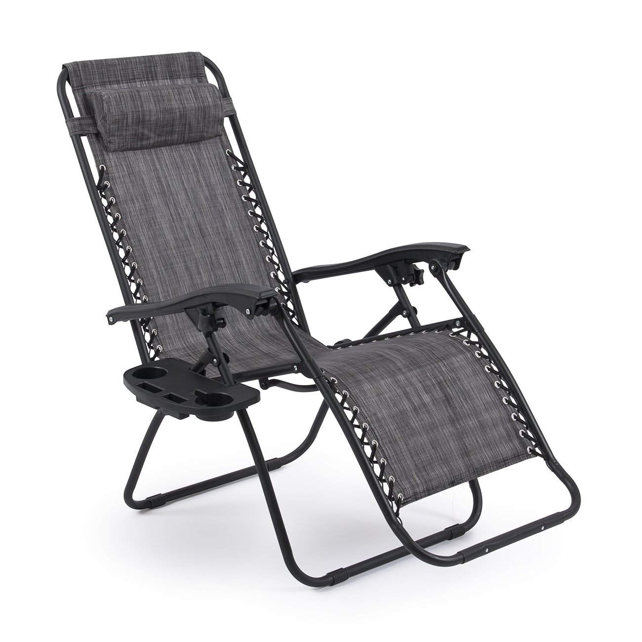 Exceptional 2 Folding Zero Gravity Reclining Lounge Chairs Utility