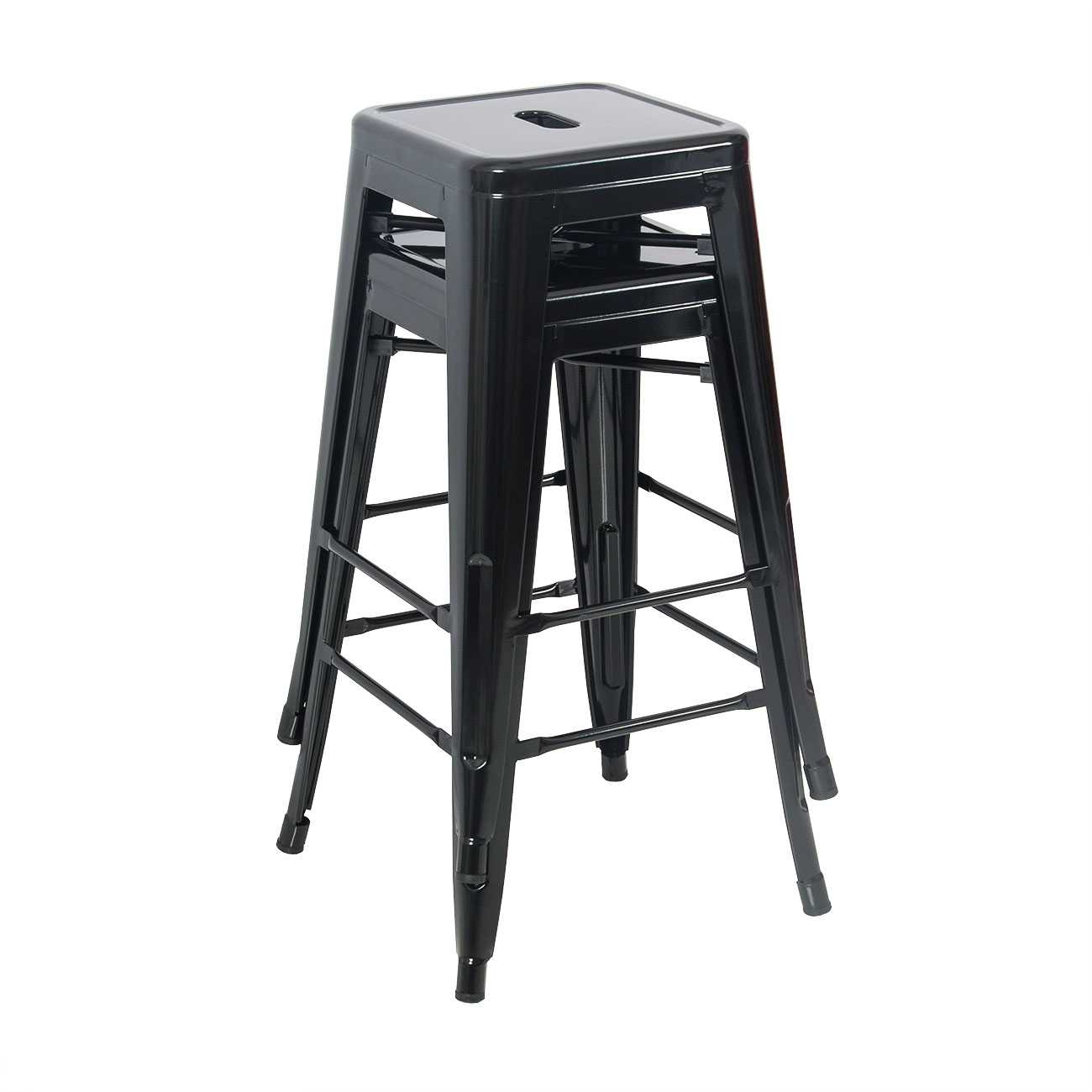 Set of 2 metal bar stool counter height home 24 26 30 for 24 inch bar stools