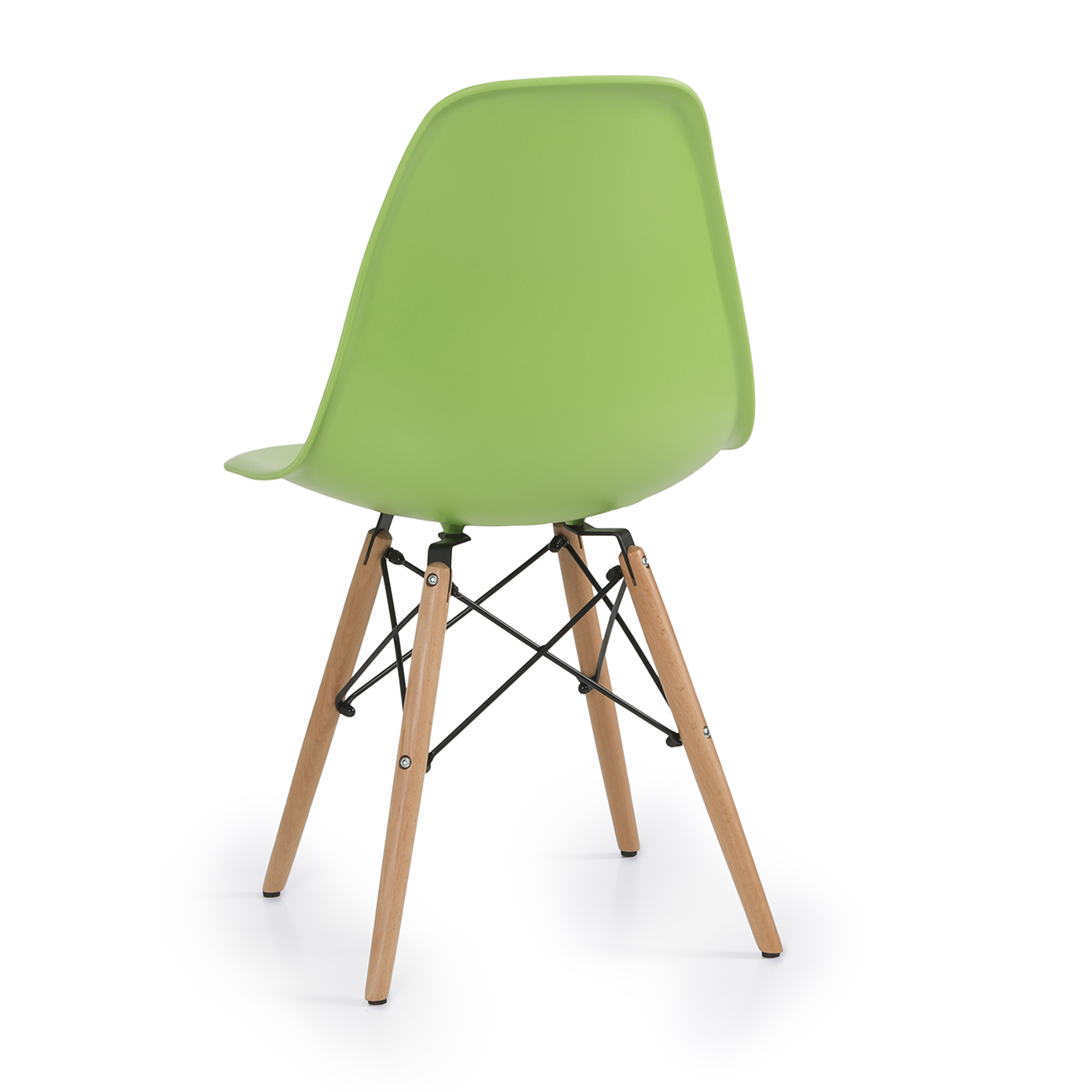 set of  green plastic molded side dining chairs modern seats  - set of  green plastic molded side dining chairs modern seats natural woodleg