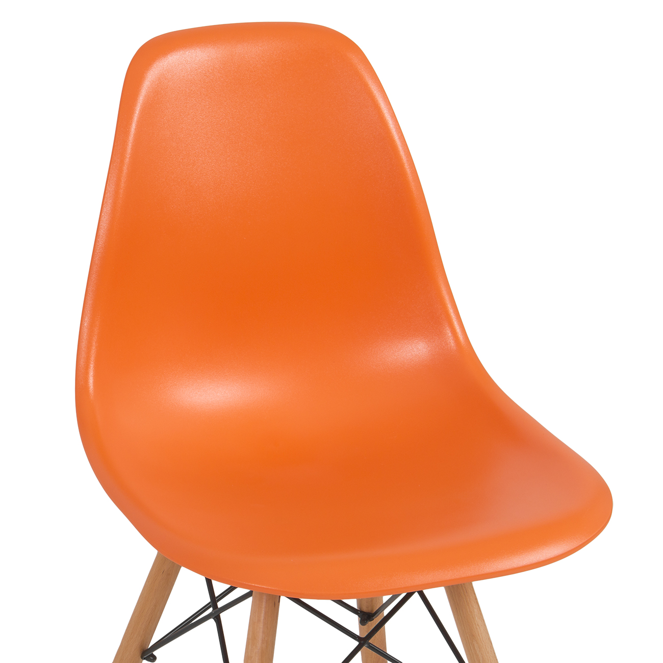 100 orange modern chair eames style dsw molded orange plast