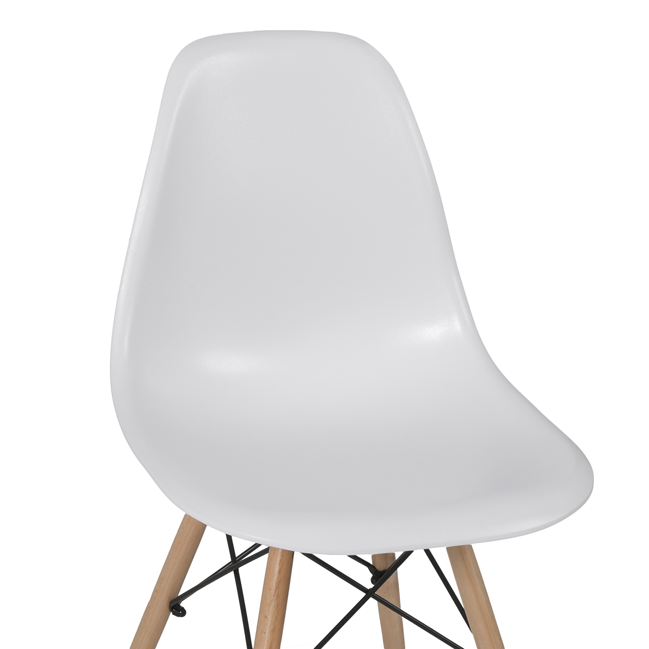 eames style dsw wood base mid century modern shell dining