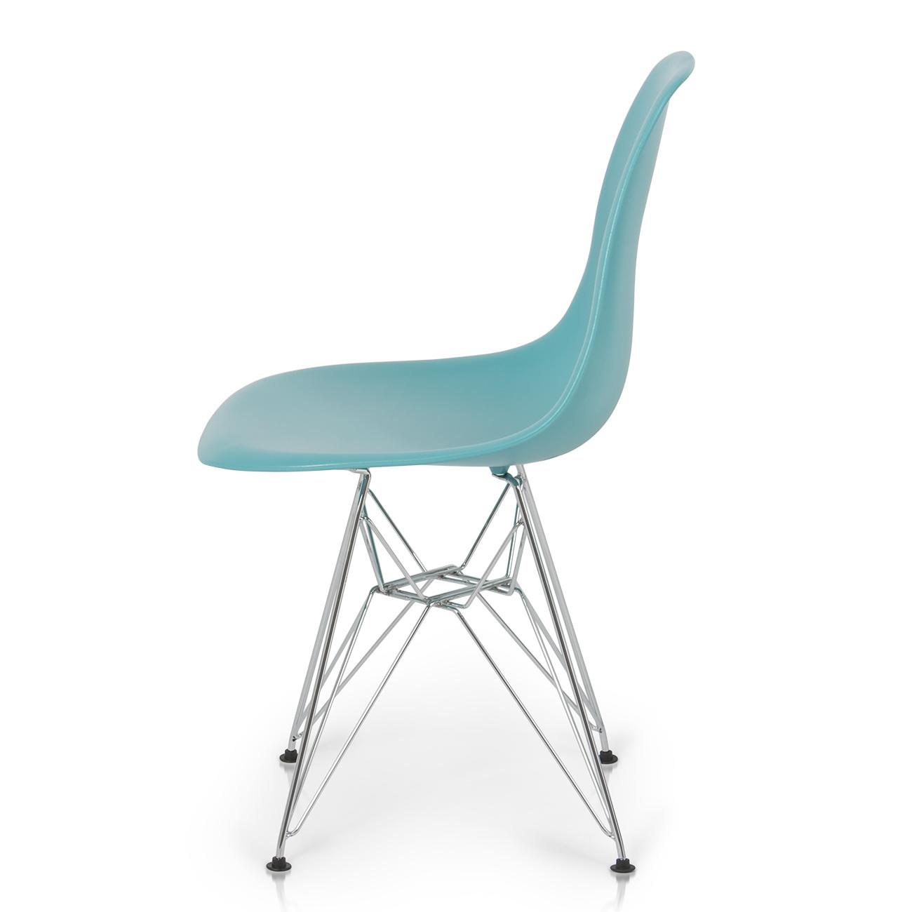 2x Eames Style DSW Modern Eiffel Side Chair Molded ABS