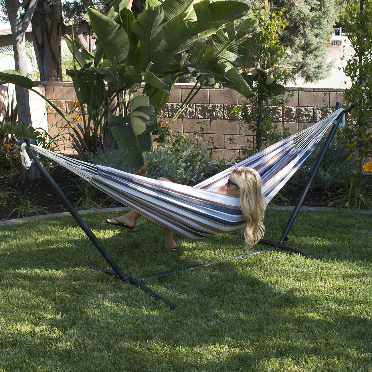 10ft Double Hammock Space Saving Portable Stand with ...