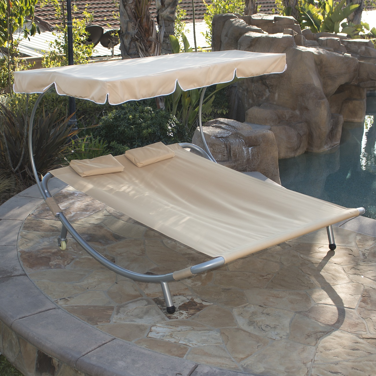 NEW Hammock Bed Lounger Double Chair Pool Chaise Lounge with ...