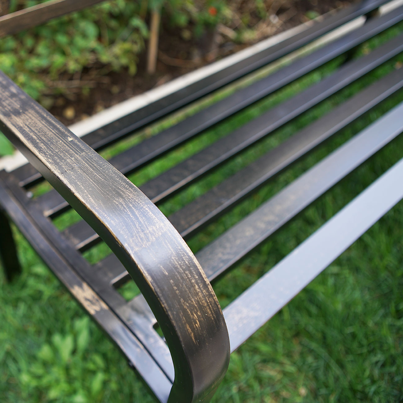 New Outdoor Garden Bench Patio Furniture Deck Backyard Welcome Love Seat Bronze Ebay