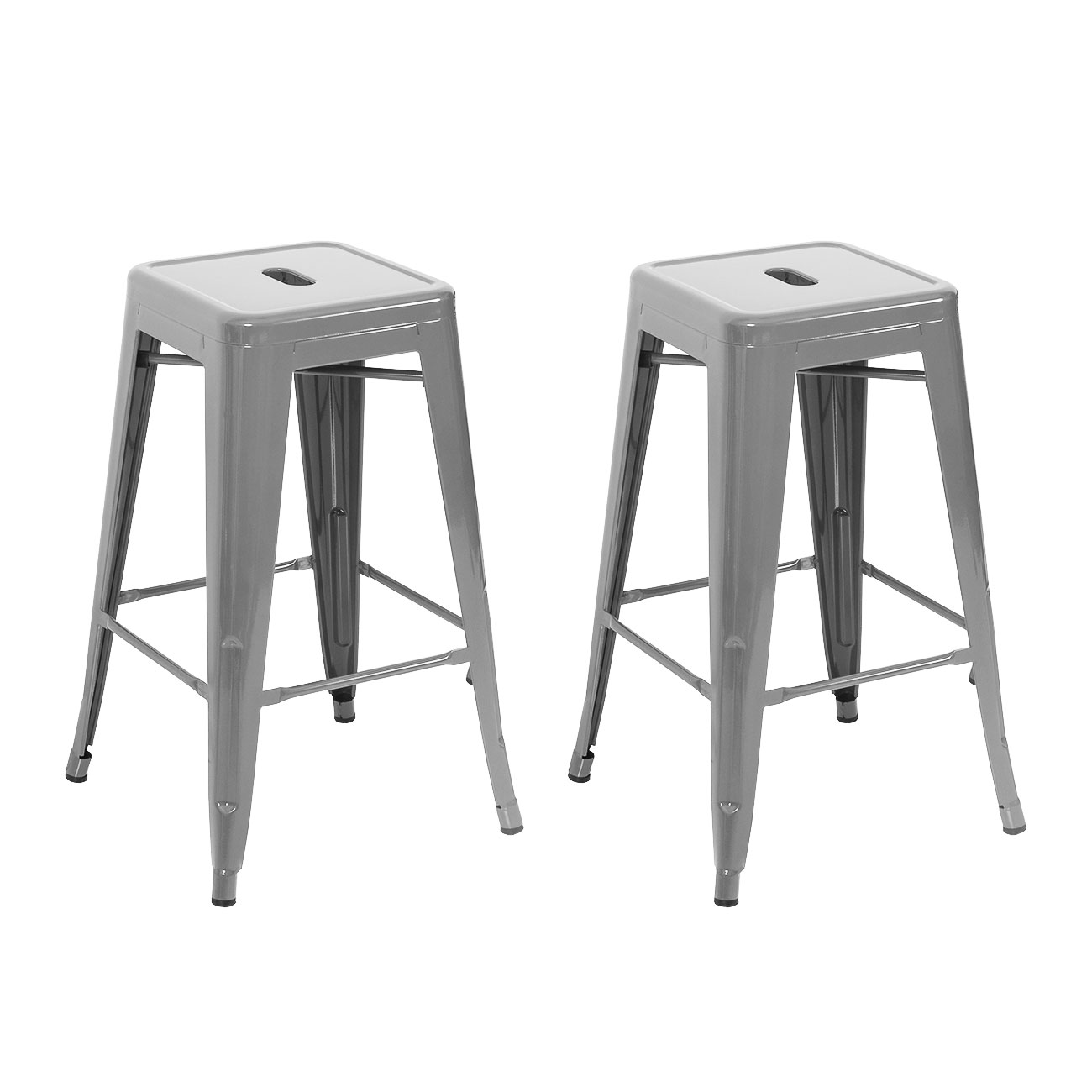 Set of 2 Metal Bar Stool Counter Height Home 24quot 26quot 30  : 014 hg 30024 sl from www.ebay.com size 1300 x 1300 jpeg 92kB