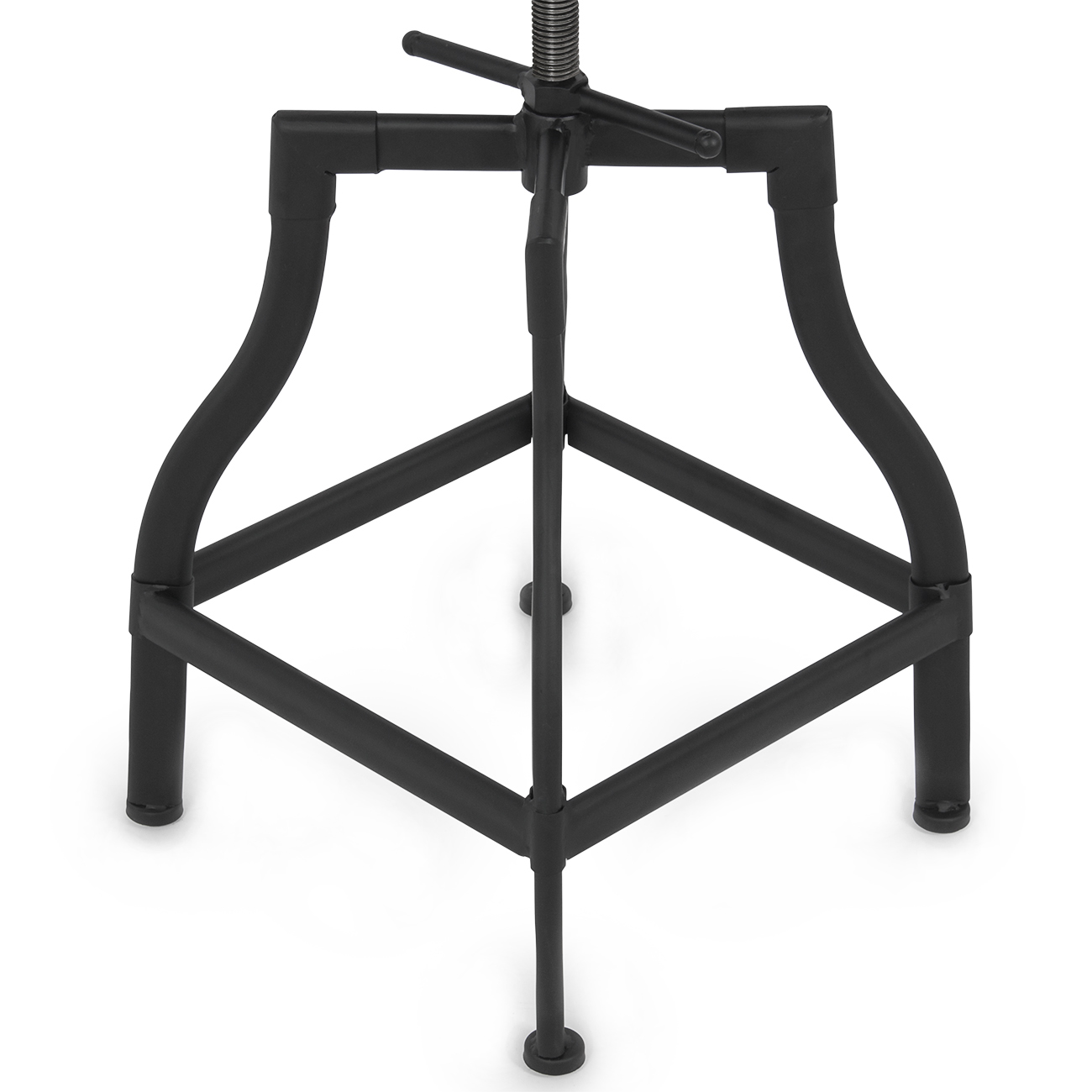 Vintage bar stool adjustable seat height swivel industrial for Industrial design bar stools