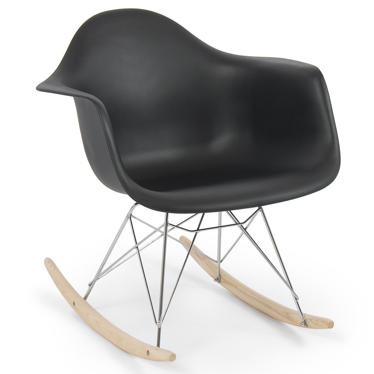 Retro dsw eames style modern arm chair rar rocker rocking for Modern arm chair