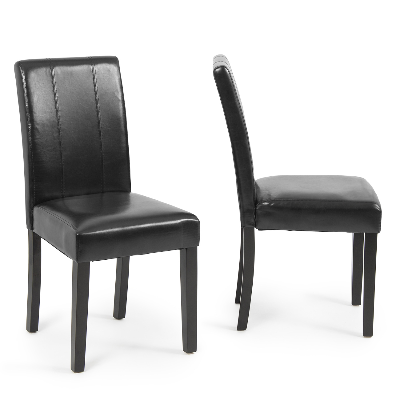 modern parsons chair leather dining living room chairs seat set of 2