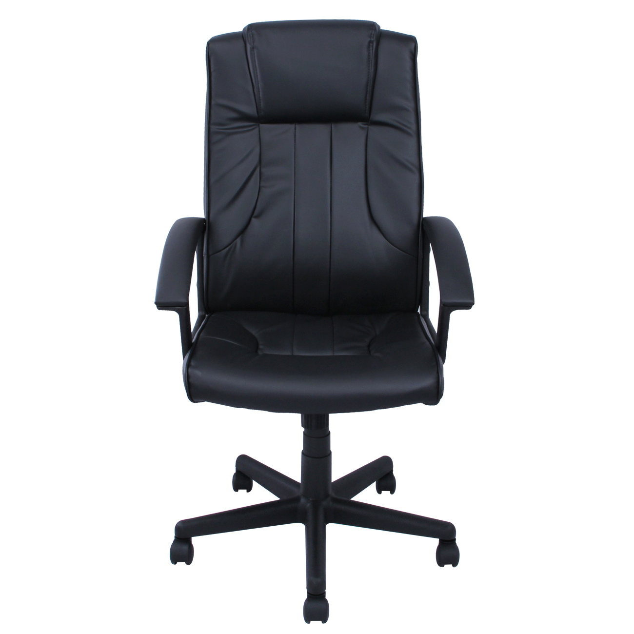 Black Office Chair PU Leather Ergonomic High Back Executive Computer Desk Tas