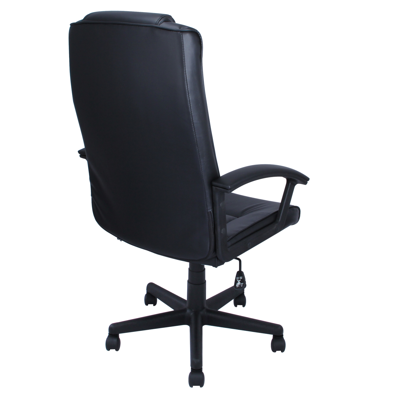 black office chair pu leather ergonomic high back executive computer
