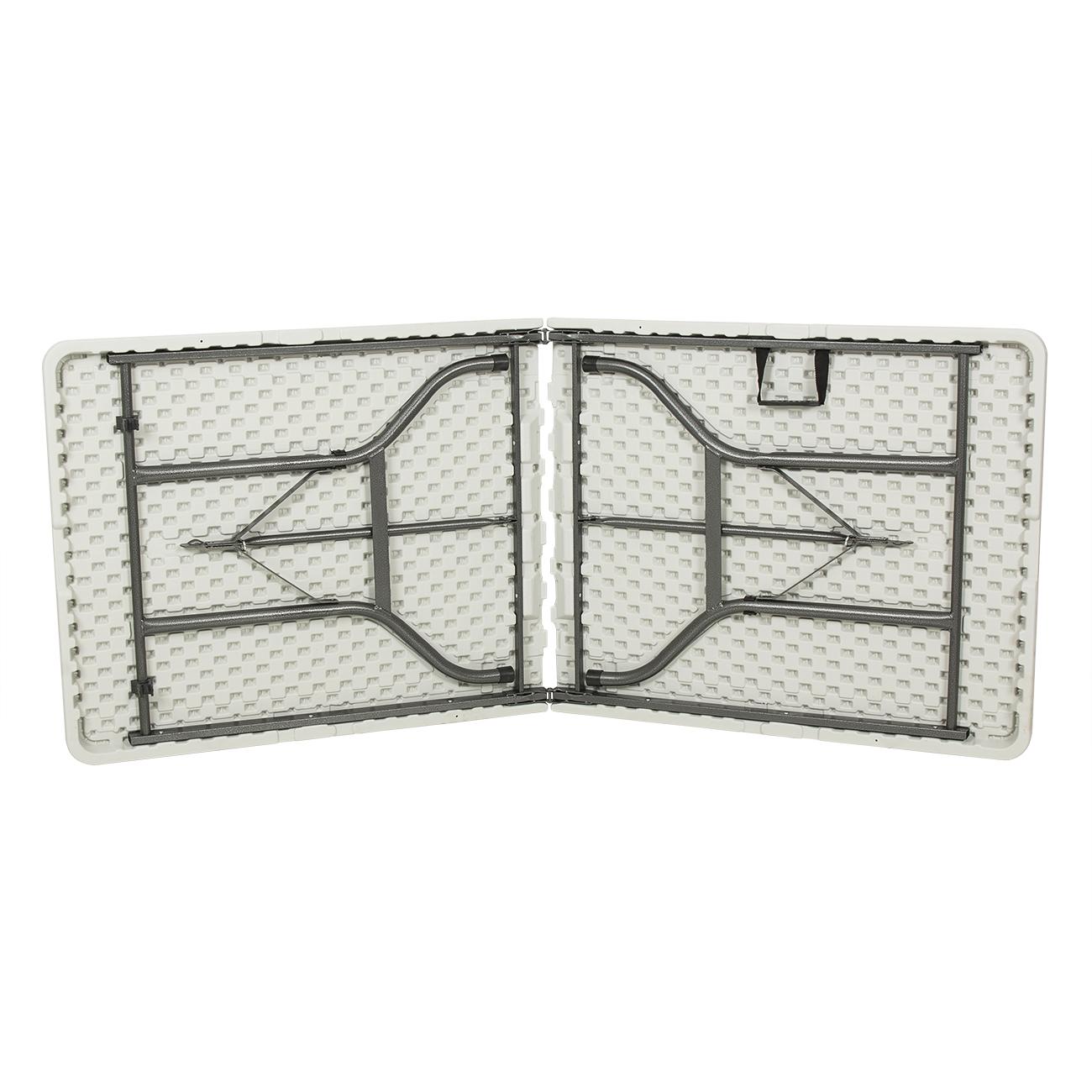 portable 6 ft foot 72 white long plastic center folding lifetime picnic table. Black Bedroom Furniture Sets. Home Design Ideas