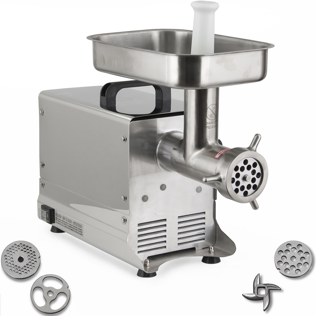 Commercial Electric Grinder Guards ~ Electric meat grinder w commercial grade stainless