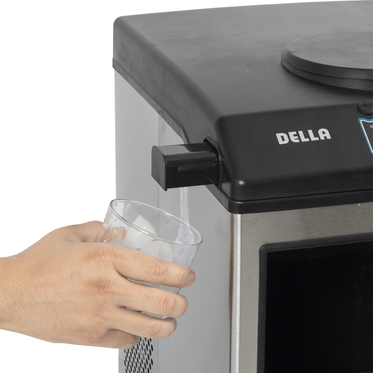 Stainless Steel Water Dispenser w/ Built-In Ice Maker Machine ...