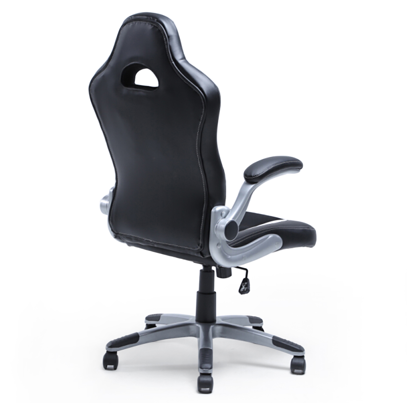 Office Racing Chair Bucket Seat High Back Ergonomic Gaming Computer Flip Armrest