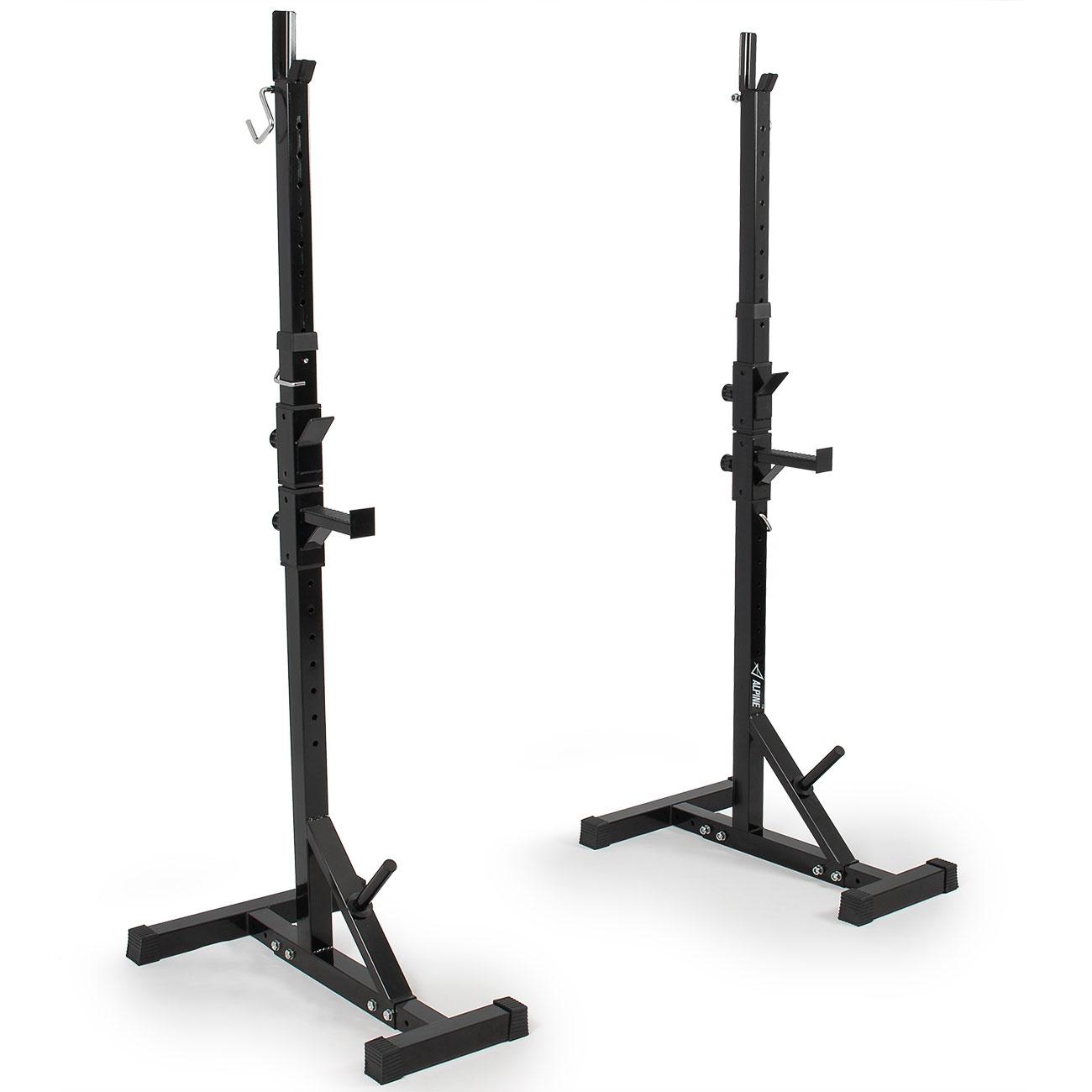 2x Adjustable Rack Stand Standard Steel Squat Barbell Squat Bench Press Workout Ebay