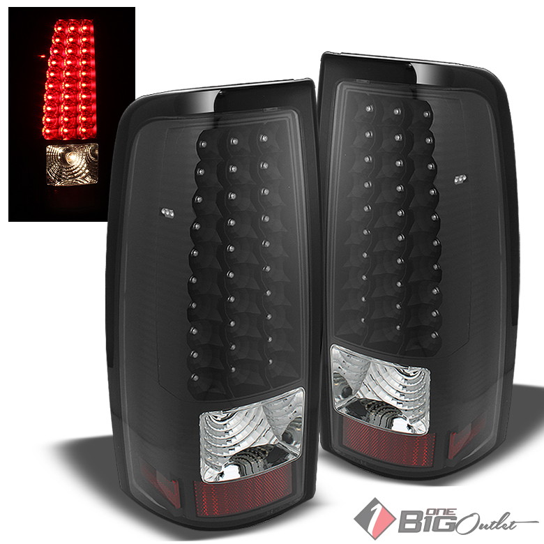 chevy silverado 05 06 gmc sierra led blk tail lights lamp pair ebay. Black Bedroom Furniture Sets. Home Design Ideas