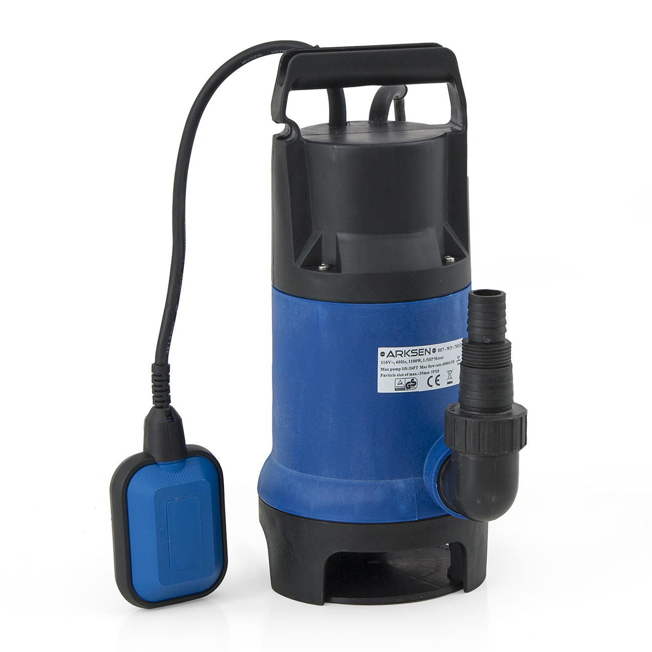 1100w submersible pump 1 5hp 4000gph w 25ft cord water for Water pump to drain pond