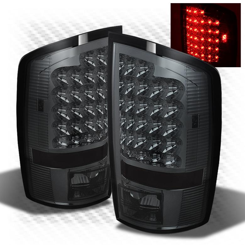 07 08 RAM 1500 06 09 2500 3500 Smoked LED Perform Tail Lights Rear Brake Lamps