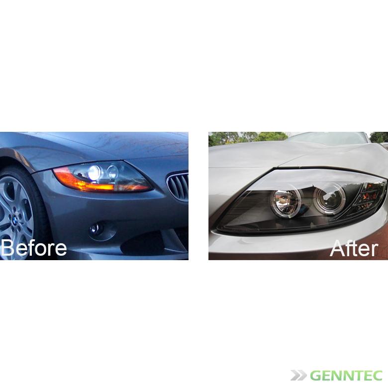 Bmw Z4 Indicator Lights: For 2003-2008 BMW Z4 Twin Halo Projector Headlights Black