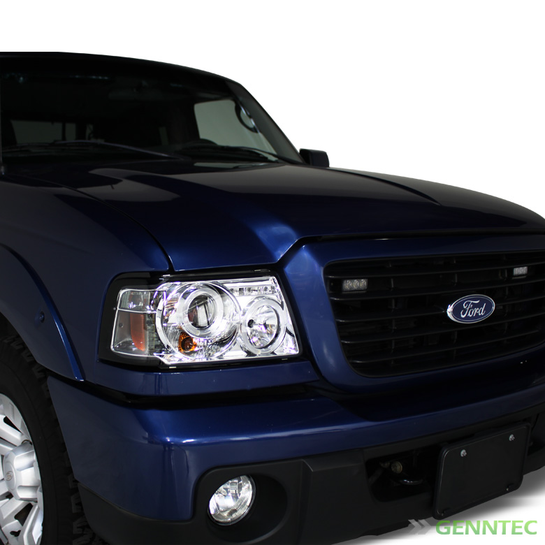 For 2001-2011 Ford Ranger Twin Halo LED Pro Headlights