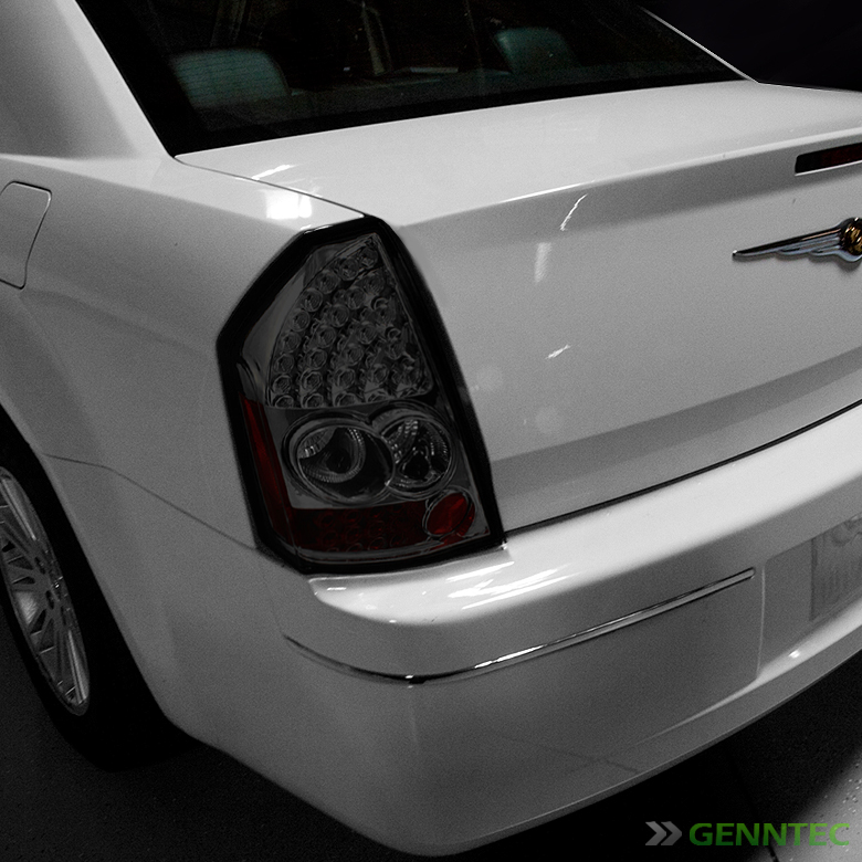 for smoked 05 07 chrysler 300c led tail lights lamps rear. Black Bedroom Furniture Sets. Home Design Ideas
