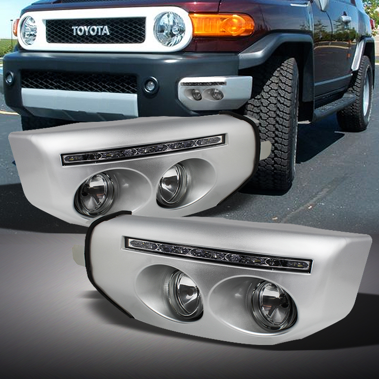 Ebay Fj Cruiser Led Fog Light Front Bumper Wing Toyota