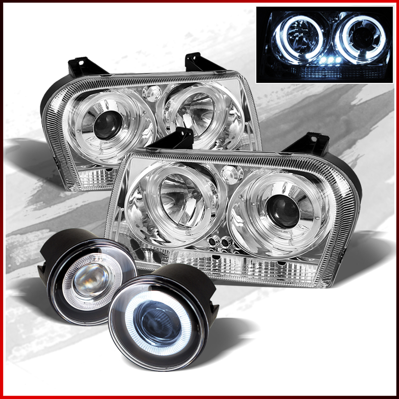05 08 chrysler 300 led projector headlights halo projector. Black Bedroom Furniture Sets. Home Design Ideas