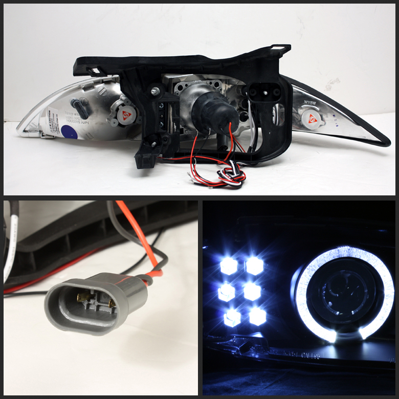 1995-1999 Chevy Cavalier Angel Eye Halo & LED Projector