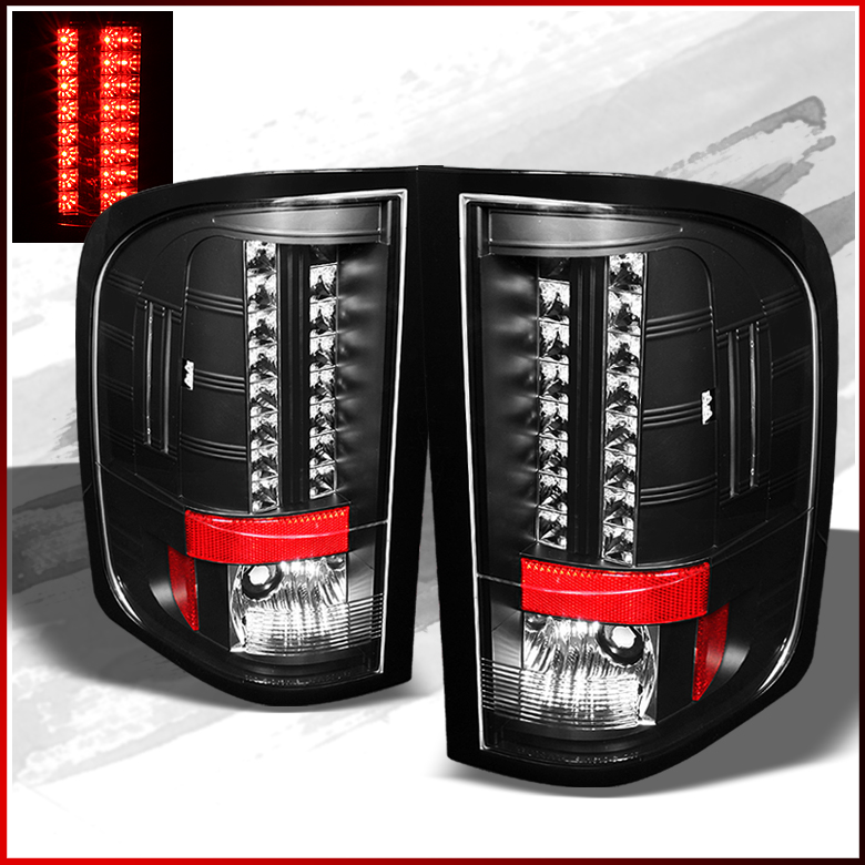 fits 09 10 silverado blk philips led perform tail lights. Black Bedroom Furniture Sets. Home Design Ideas
