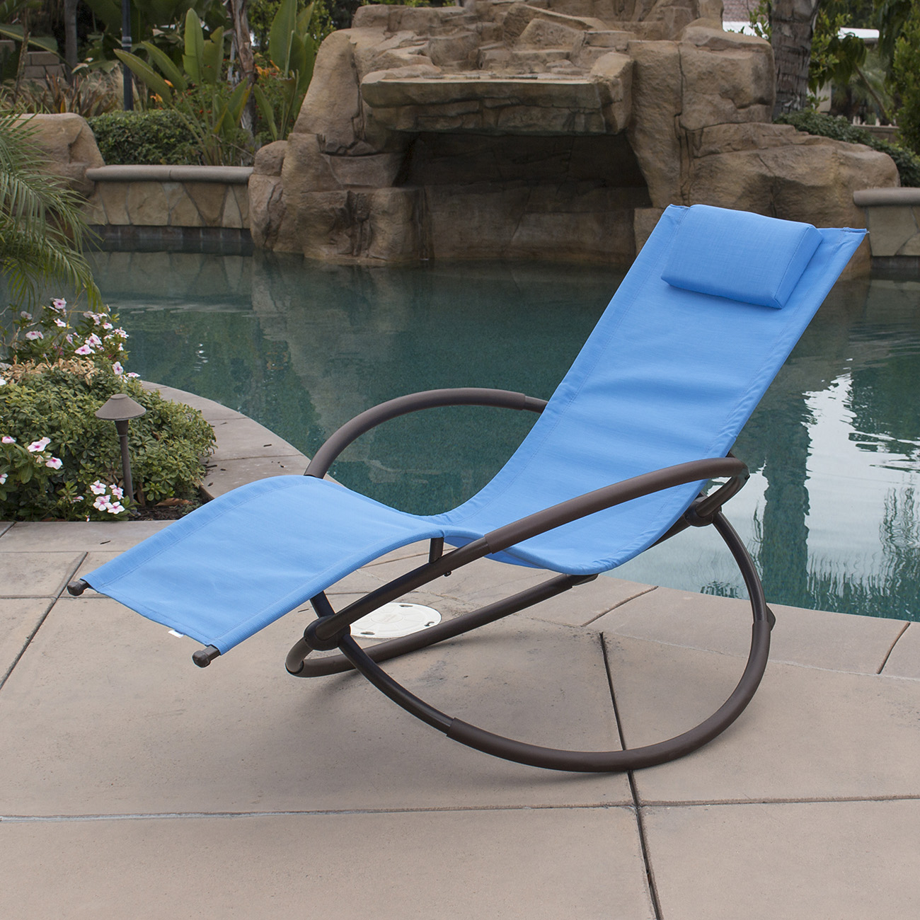 Orbital folding zero gravity lounge chairs outdoor beach for Anti gravity chaise lounger