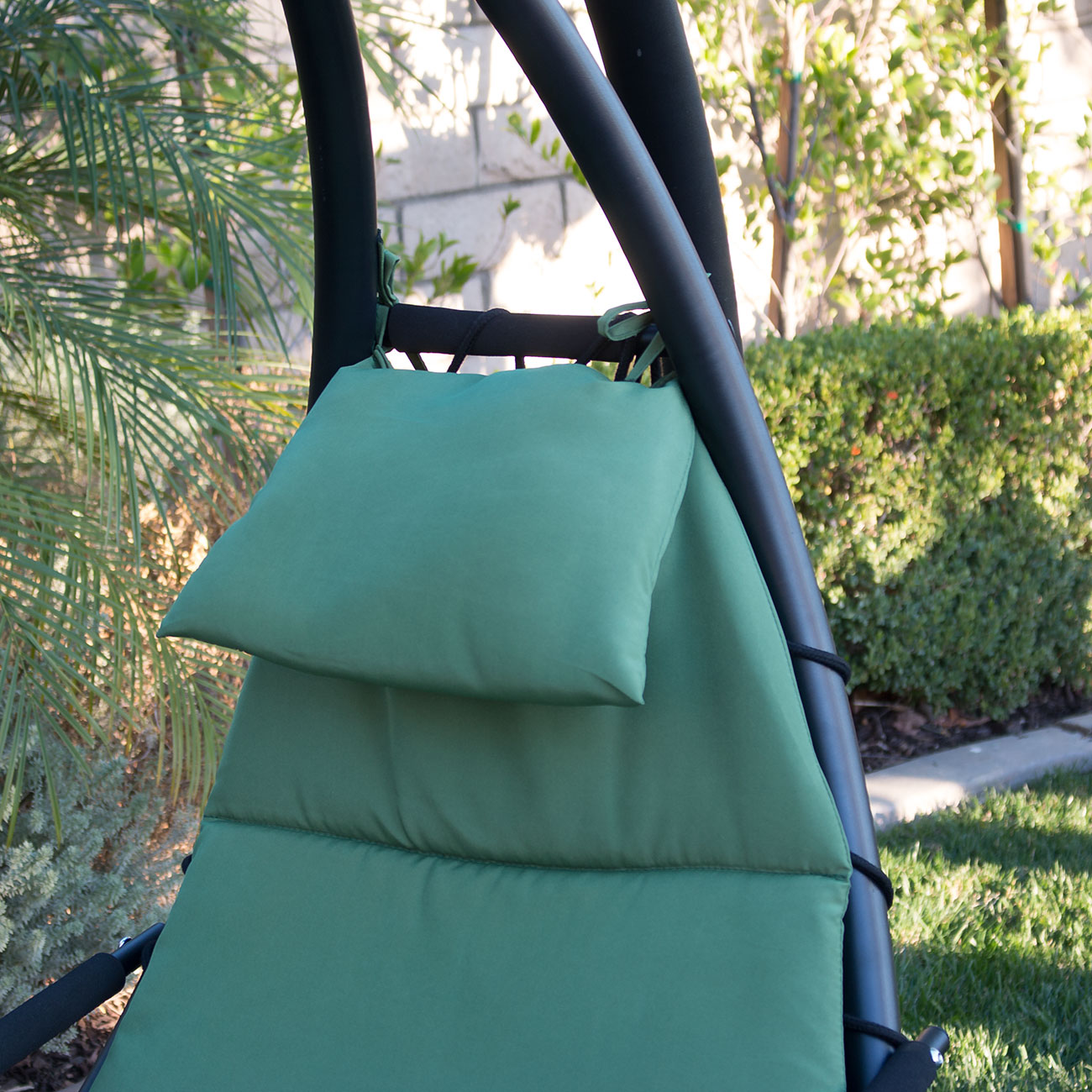 Hanging Chaise Lounge Chair Hammock Swing Canopy Glider Outdoor Patio Furniture