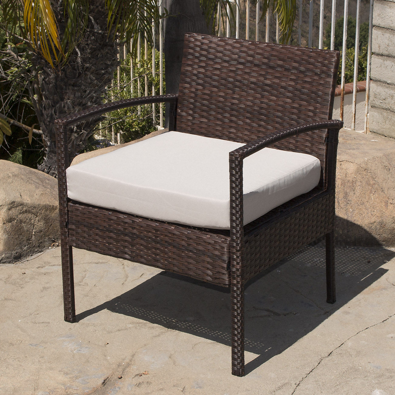 Exceptional 4PC Rattan Wicker Patio Furniture Set Sofa Chair