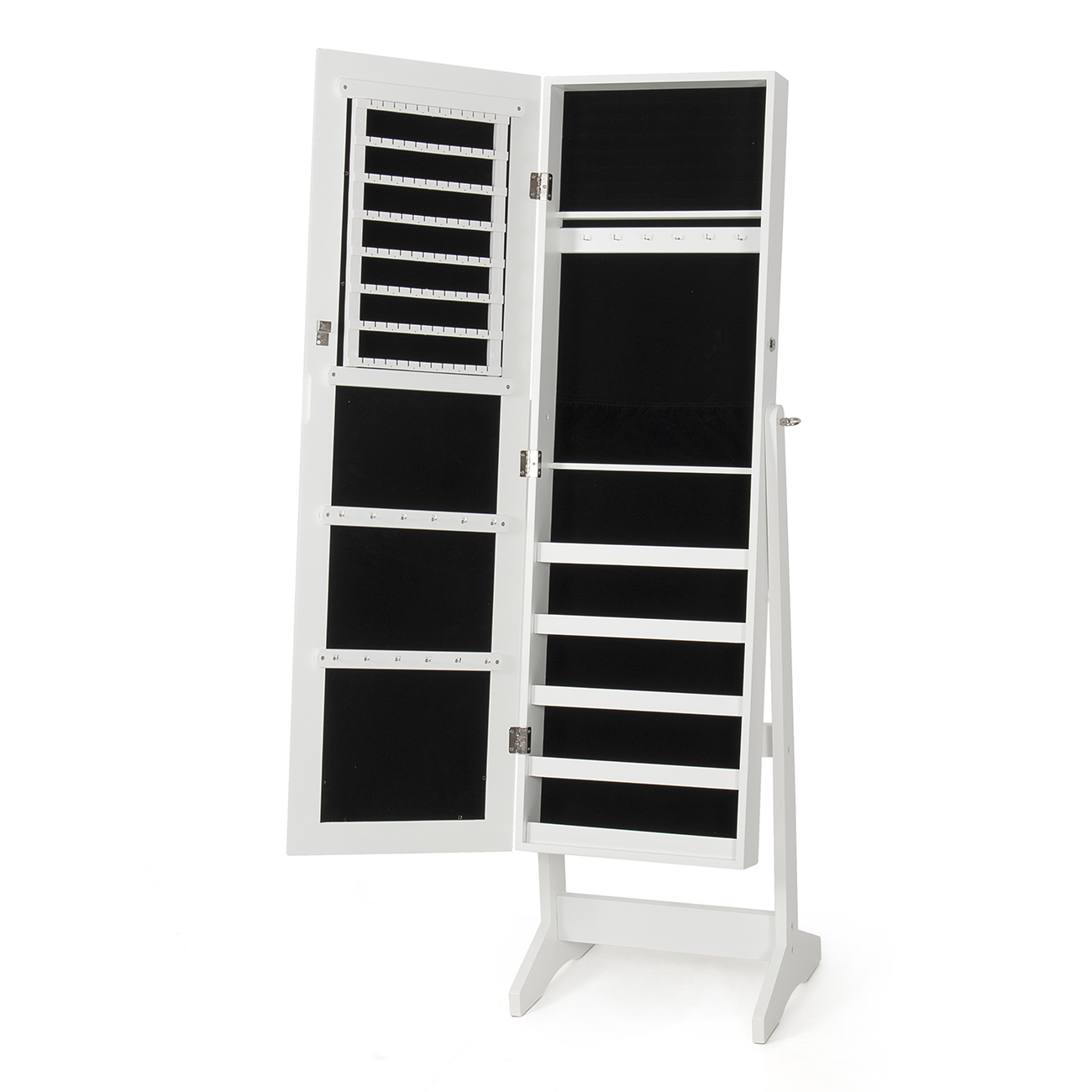 new mirrored jewelry cabinet mirror organizer armoire