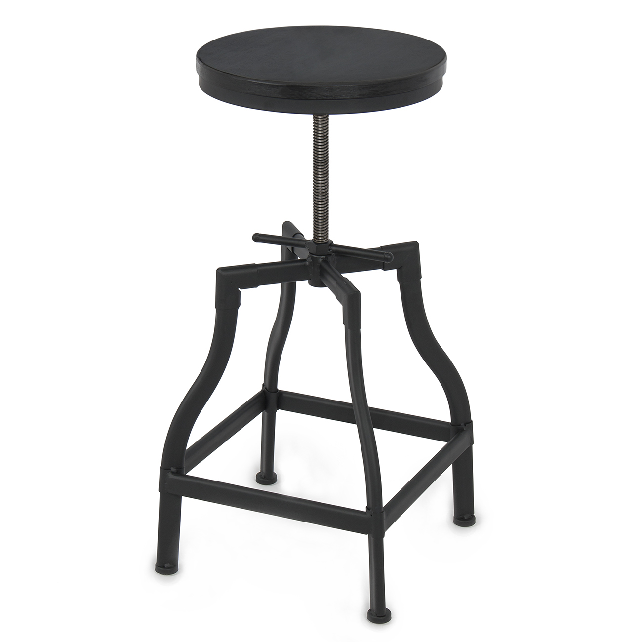 Industrial Vintage Wood Stool Adjustable Height Rustic  : 014 hg 301011 from www.ebay.com size 1300 x 1300 jpeg 301kB