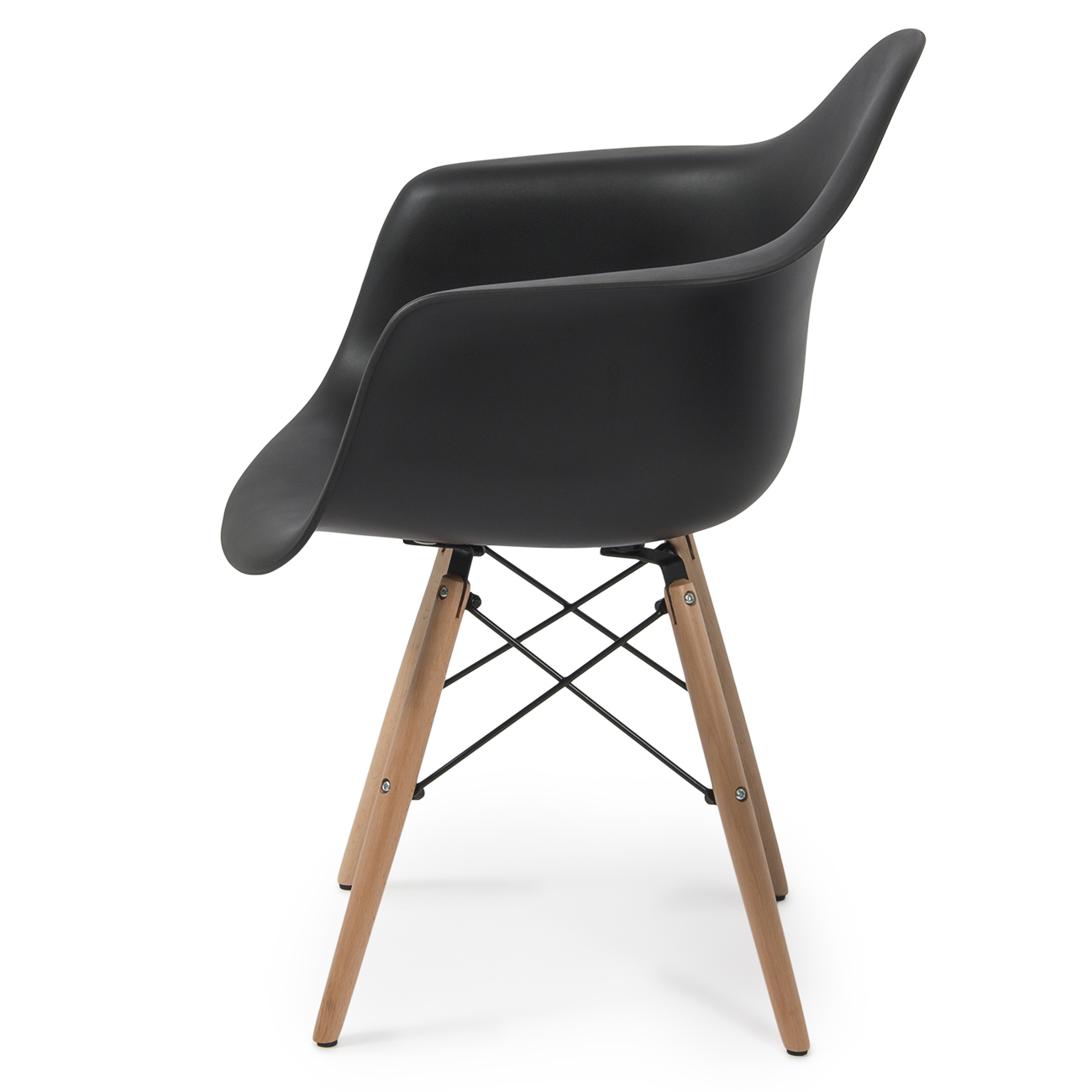 NEW Set of 2 Eames DSW Mid Century Dining Arm Chair  : 014 hg 30202 bk2 from www.ebay.com size 1300 x 1300 jpeg 335kB