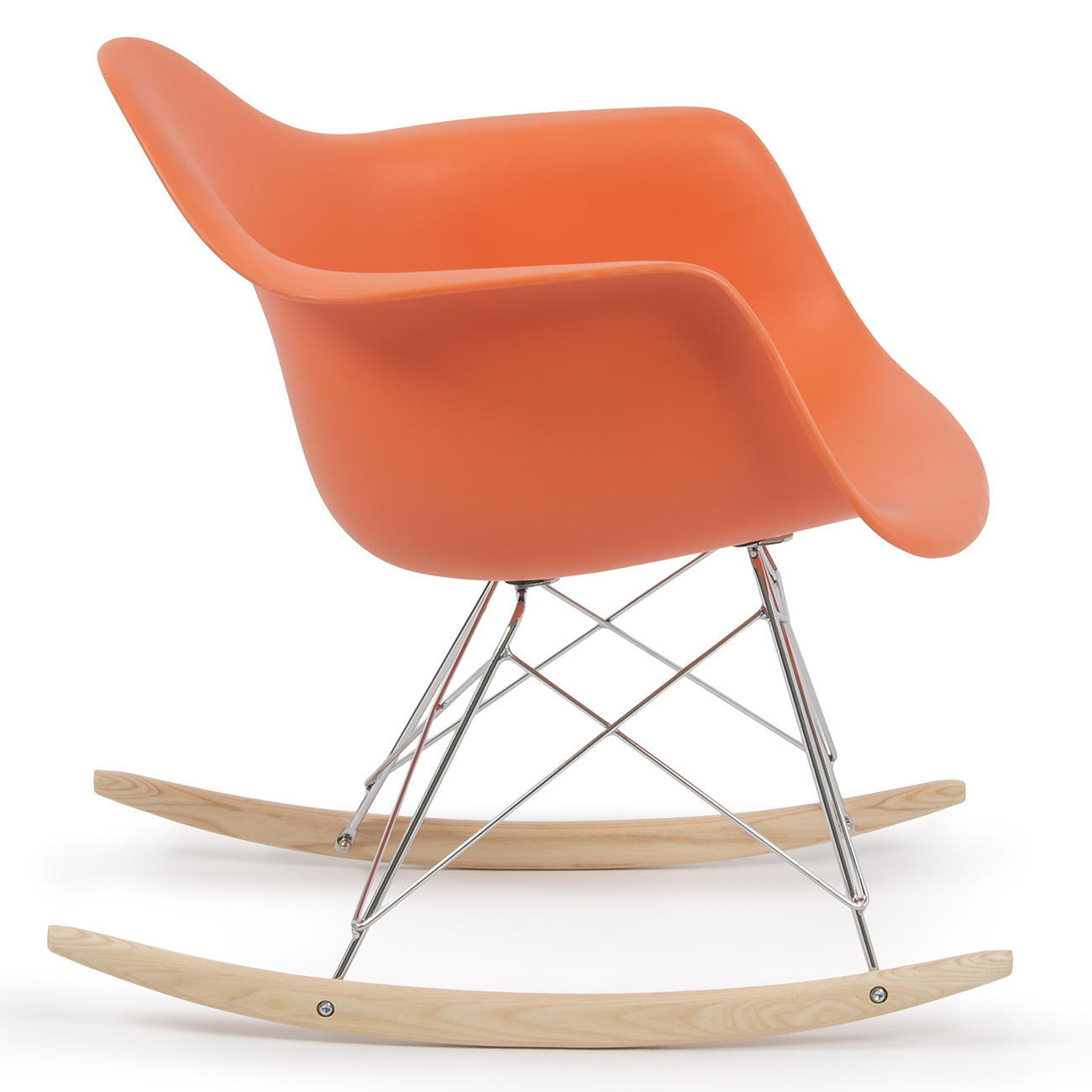 New eames rocker rocking indoor wood chair rar dsw style for Rocking chair dsw