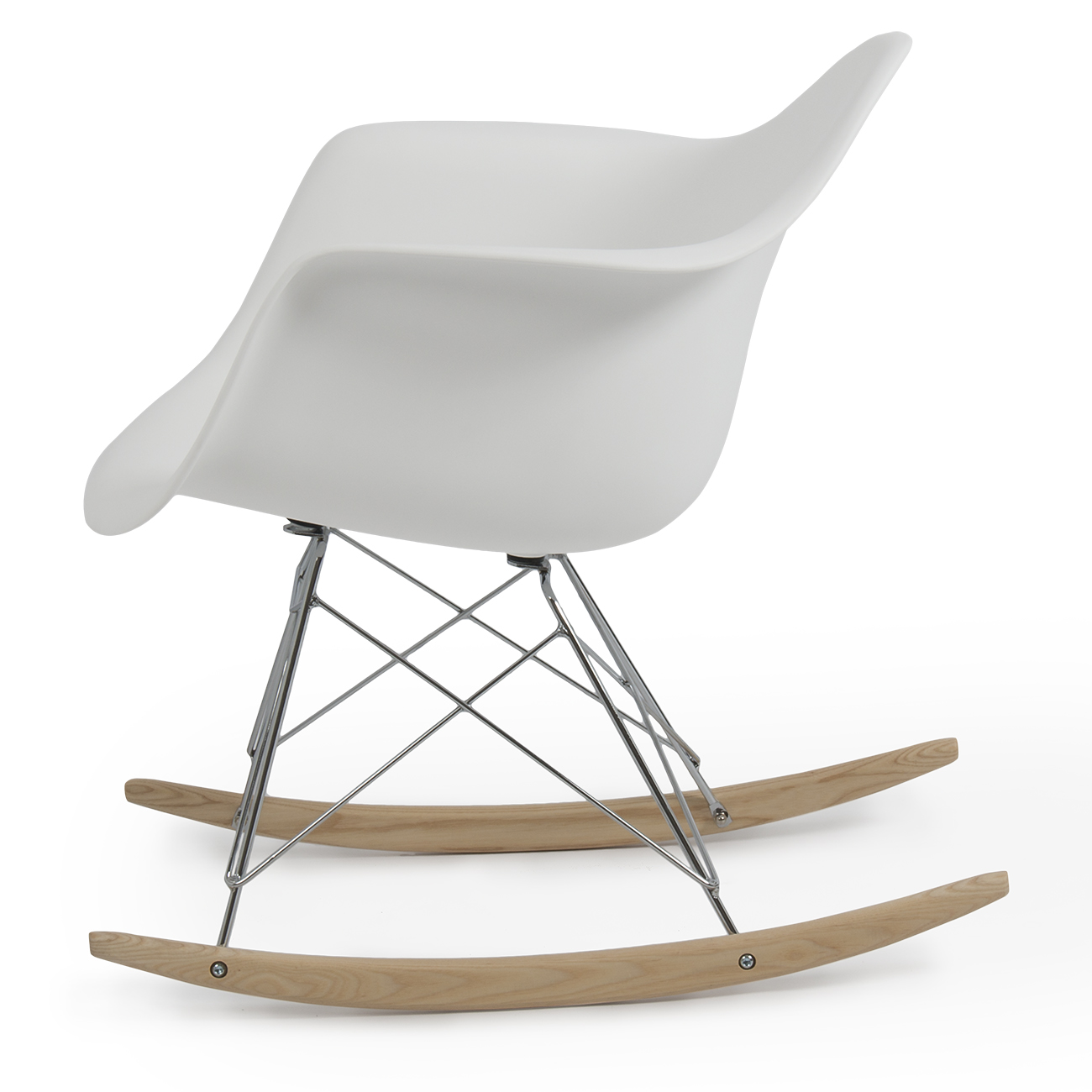Details about NEW Eames Rocker Rocking Indoor Wood Chair RAR DSW Style ...