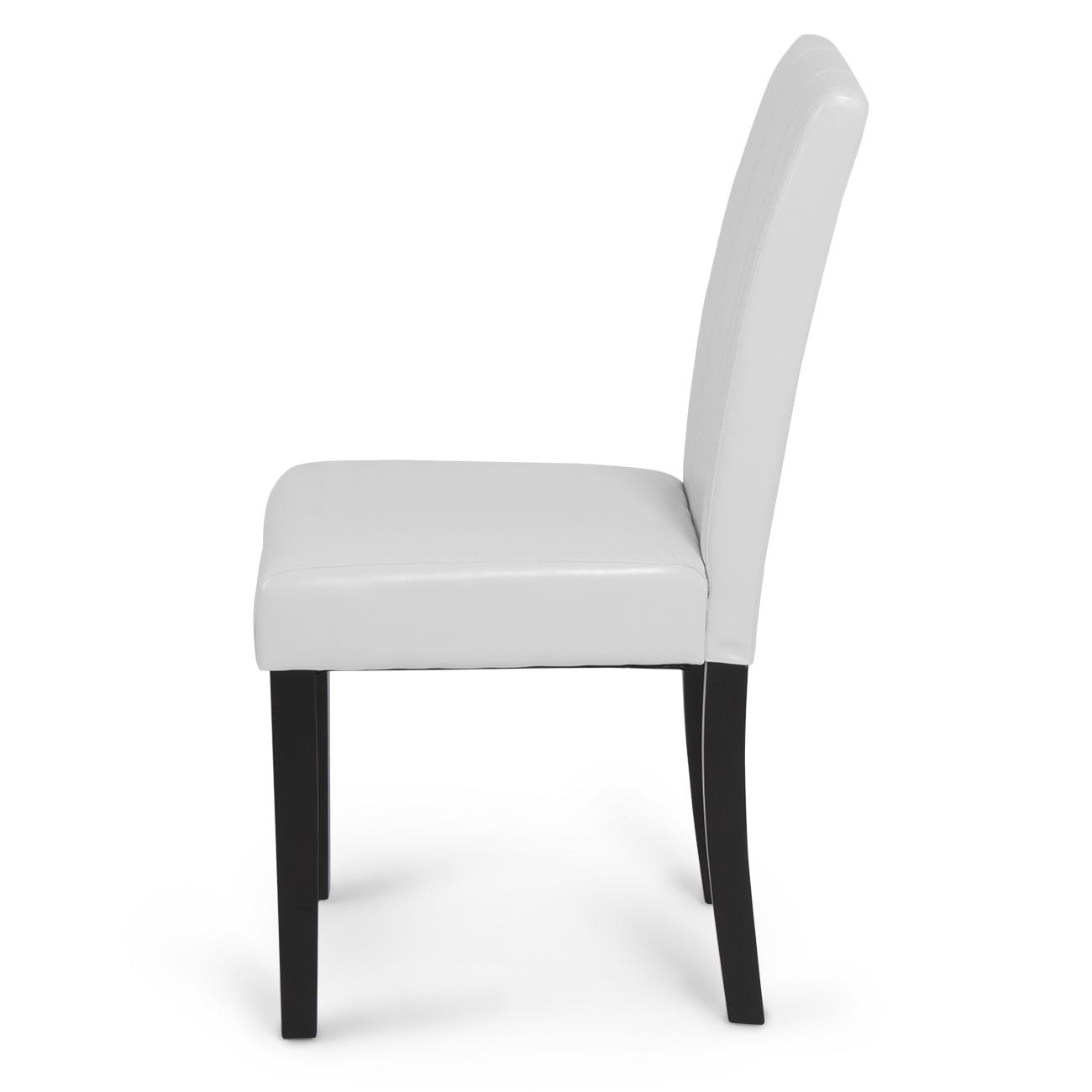 Set of 2 Elegant Modern Design Leather Parsons Dining  : 014 hg 30300 wh2 from www.ebay.com size 1300 x 1300 jpeg 138kB