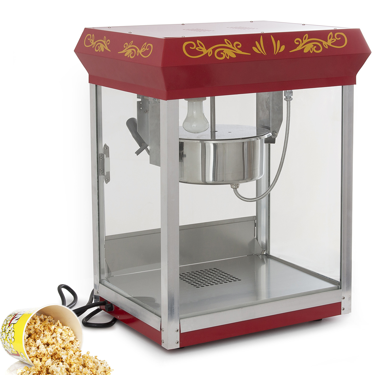 vintage style popcorn machine