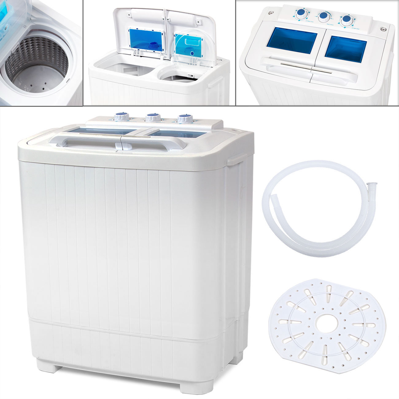 Portable washing machine compact wash spin dry cycle laundry with built in pump ebay - Interesting facts about washing machines ...