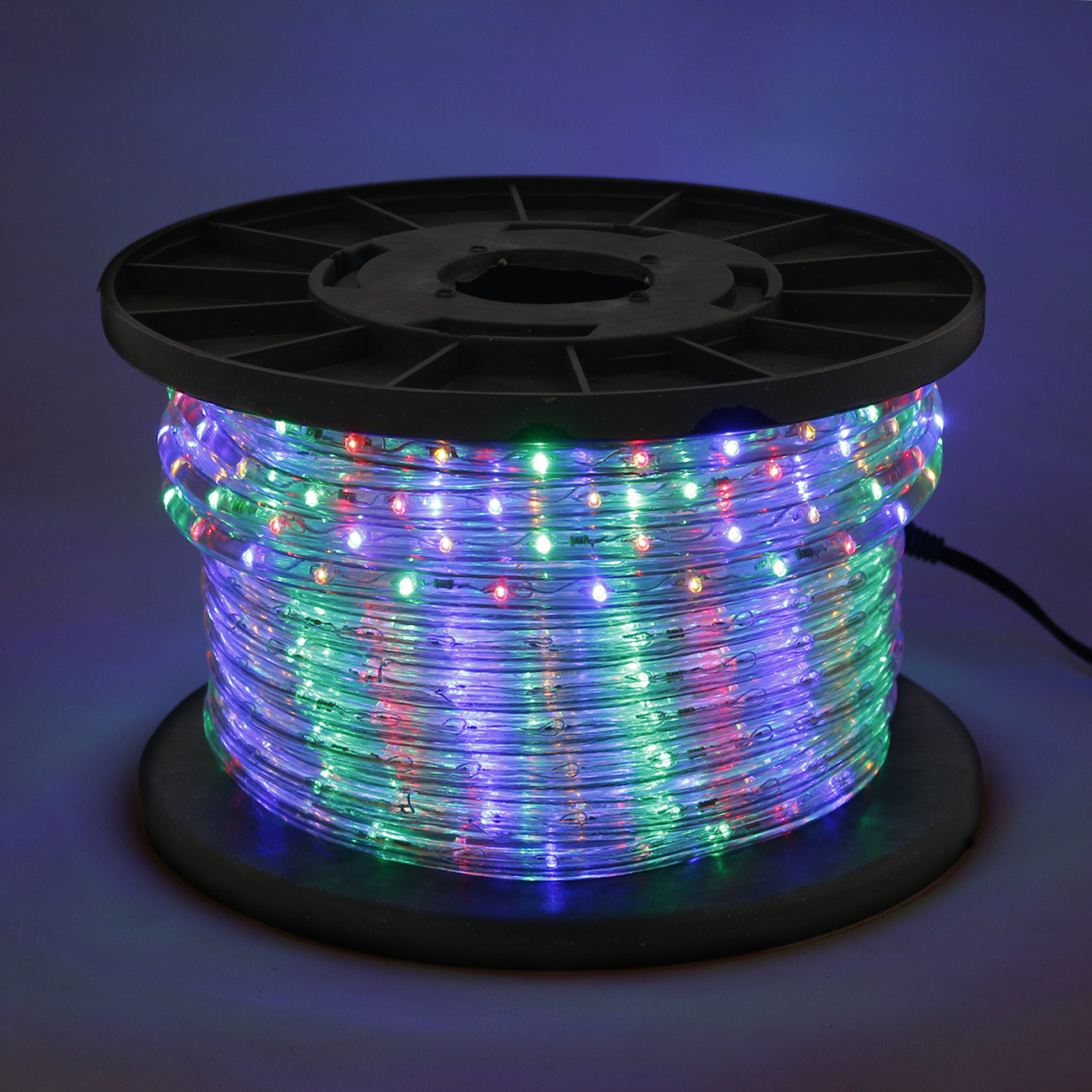 Rope Lights Sensory: Multi Color RGB 100' LED Rope 110V 2 Wire Flexible DIY