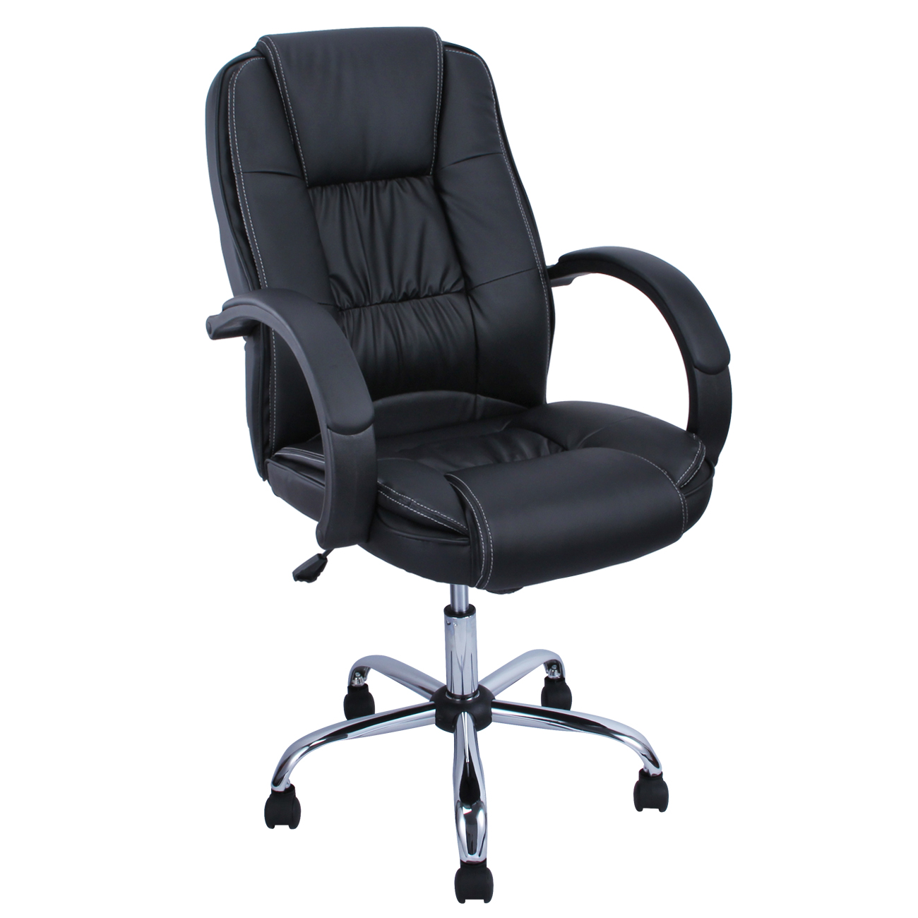 High Back PU Leather Executive Ergonomic Office Chair Desk Task Computer Blac