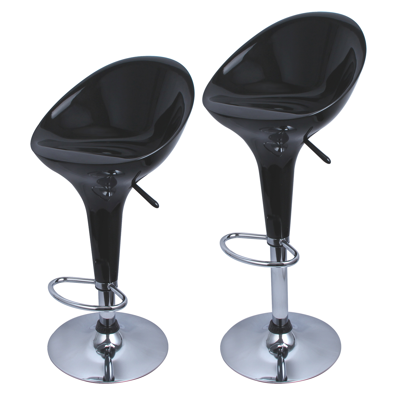 Set of 2 Bombo Style Bar Stools Modern