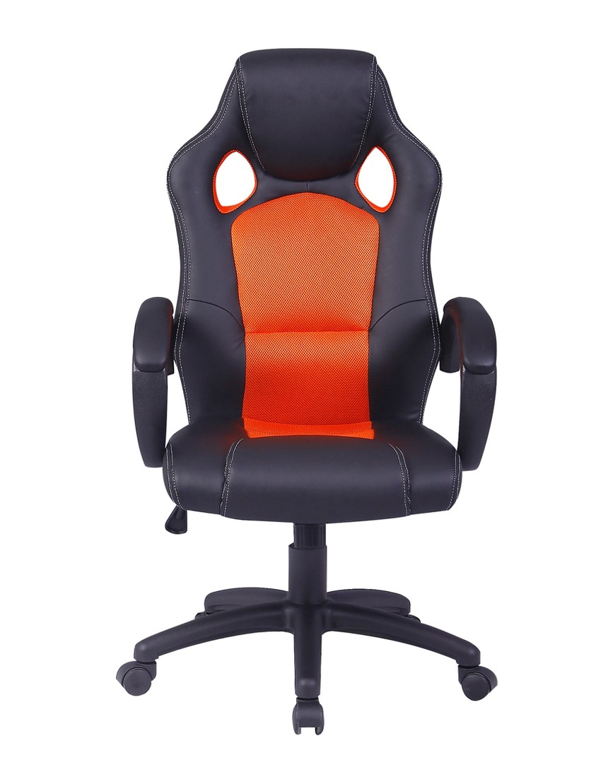 office chair ergonomic computer mesh pu leather desk seat race car styled racing ebay. Black Bedroom Furniture Sets. Home Design Ideas