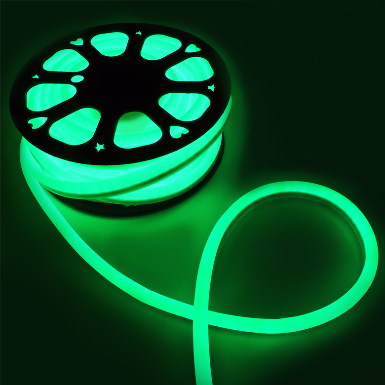 Flexible 50 Neon Green LED Rope Light Indoor/Outdoor Party Holiday Decorative eBay